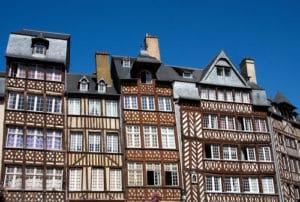 Rennes, maisons à colombage